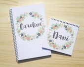 Custom Floral Wreath Notebook