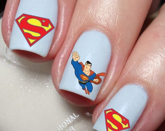 Superman Nail Art Sticker Water Transfer Decal 18