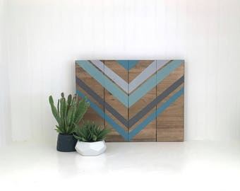 wooden sign,  rustic wall decor, Chevron decor, metallic wall decor, wood sign, gift, wedding, anniversary, housewarming gift
