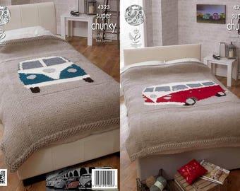 Campervan Bed Throws Knitting Pattern