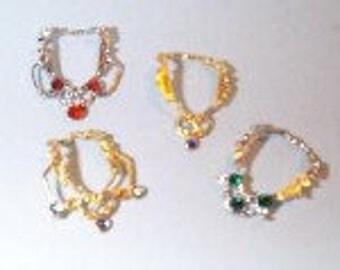 1:12 Dollhouse Miniature Four Necklaces Kit/ Miniature Jewelry DI JK004
