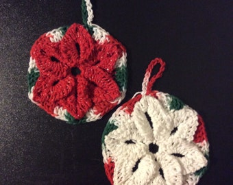 Christmas poinsettia trivet