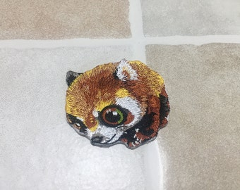 Embroidered Raccoon Patch Iron/Sew On