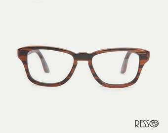 Wooden Eyeglasses, Ebony Eyeglasses, Prescription Glasses, Wooden Glasses, Customize Eyeglasses, Ebony, Handmade Eyeglasses, RE16