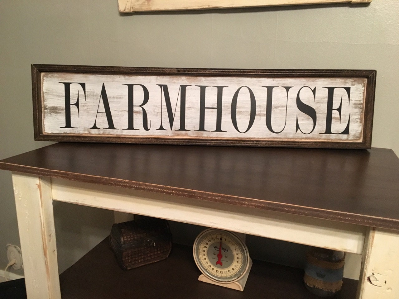 Farmhouse sign farmhouse wall decor rustic wall decor for Rustic home decor and woodworking