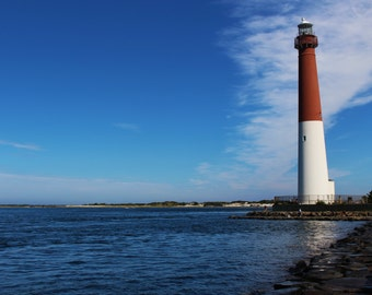 Barnegat Lighthouse Photograph, New Jersey Lighthouse Photograph, Jersey Shore Wall Art, Coastal Wall Art, Beach Wall Art, FREE SHIPPING