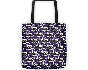Northwestern Running Wildcats Camo/ Camouflage Tote Bag/ Purse