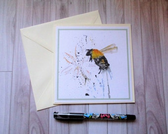 Bee greetings card, blank card, greetings card, birthday card, note card, thank you card, bee thank you card, bee birthday card