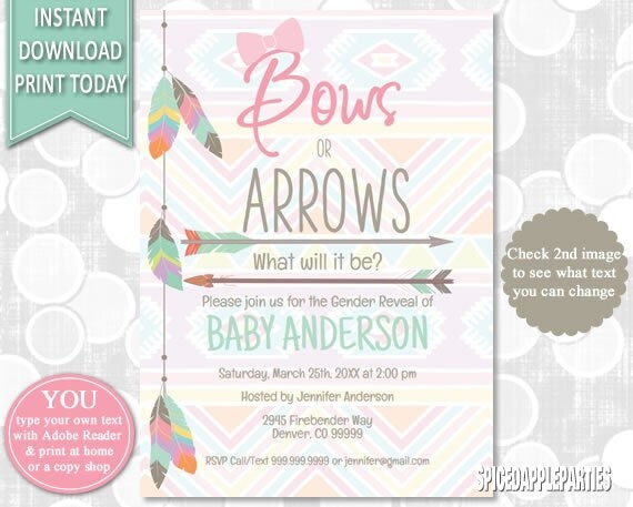 Gender Reveal Baby Shower Gender Reveal Invite Gender Reveal Party