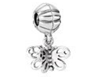 Pandora  Best Friends Forever Butterfly Dangle Sterling Silver Charm # 790531