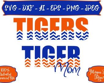 Tiger Mom SVG - Basketball SVG - Baseball SVG - Football svg - Soccer svg - Tigers svg - Files for Silhouette Studio/Cricut Design Space