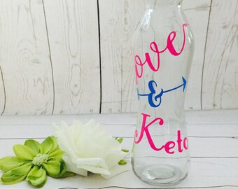 Keto Love YETI  cup, bottle ,water cup vinyl sign, made to order Keto lovers sign