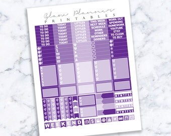 Printable Planner Stickers: 12 (Erin Condren Life Planner PDF)