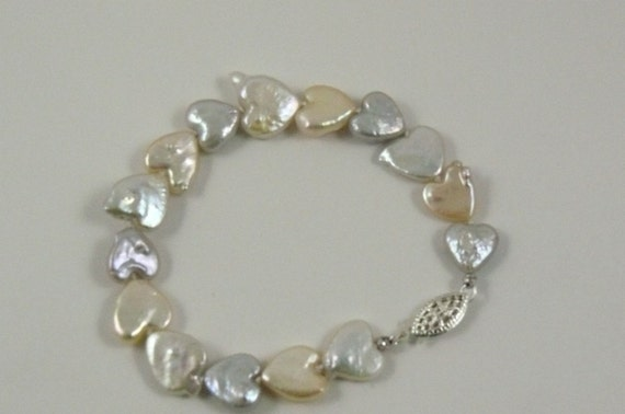 Freshwater Multi Color Pearl Bracelet with Sterling Silver Clasp 7 Inches