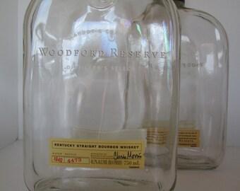 Woodford Reserve Distiller's Select Empty Whiskey Bottles 750 mL Unique Glass Bottles Labrot & Graham Kentucky Straight Bourbon Whiskey