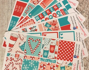 Peppermint Mocha Themed Kit---- Weekly Planner Kit ---- {Includes 250+ Stickers}