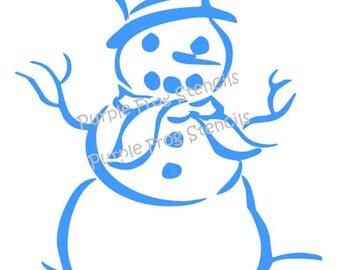 Snowman Stencil, Winter, Different Sizes Available (Reusable),