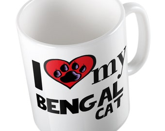 I Love My Bengal Cat mug