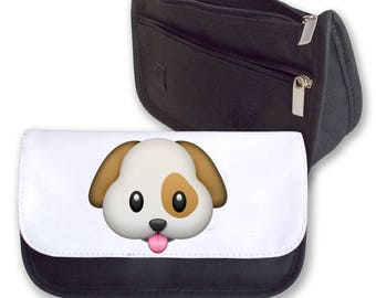Emoji DOG pencil case / Make-up bag