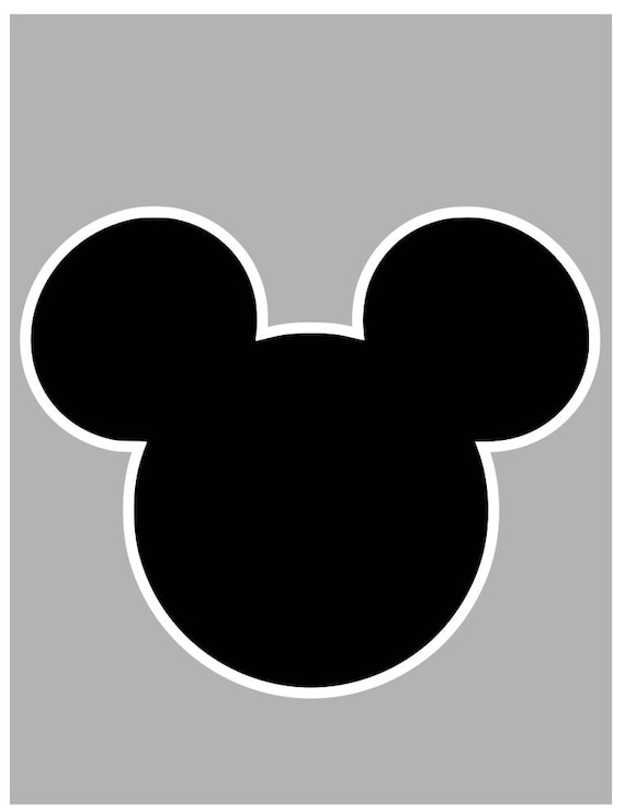 Minnie and Mickey Mouse Outline svg file