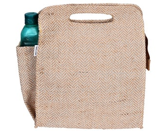 DILLY Juco/Jute eco friendly Reusable Lunch Bag