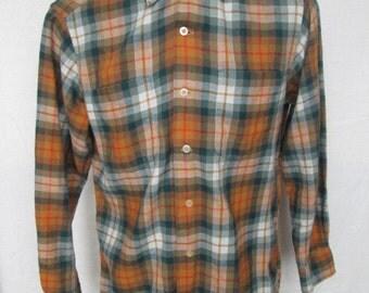 Vintage VIYELLA by William Hollins Mens Plaided Casual Shirt Sz M 15-1/2 Used UK