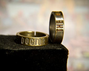 The Doctor Who FanArt Ring / unclosed vintage ring / Time Lord ring