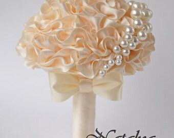 Bridesmaid's bouquet, Wedding Toss bouquet, ivory, mini bouquet, Unique Wedding Bridal Bouquet, Wedding Accessories, Wedding set, pearl