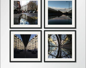 The Reflection Collection: Set of four square Reflection prints, Reflection Photography, Reflection Print, Reflection Art, Reflection Decor