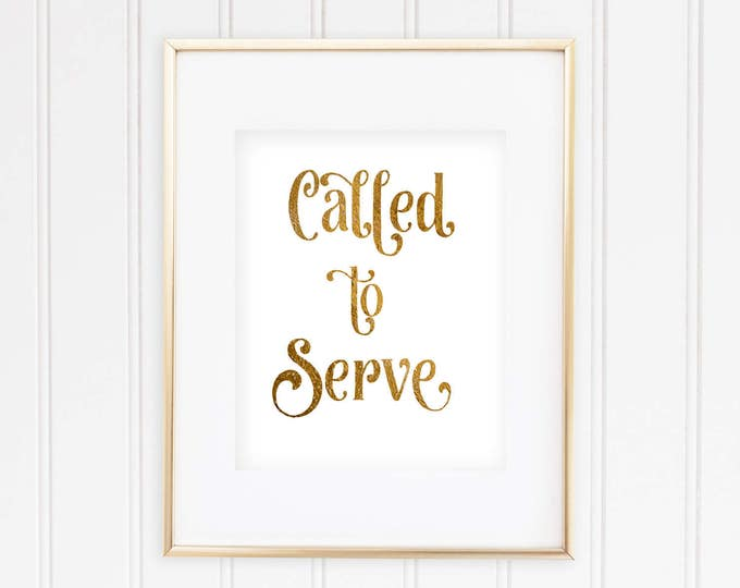 Called to Serve - Real Foil