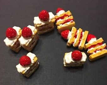 Kawaii Strawberry Shortcake Flatback Cabochons