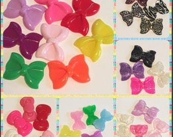 Updatee: XL Kawaii Resin Bow Knot Bows Decoden Crafts Hair Bow Crafts You Pick Style