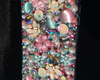 Pink and Pearl IPhone 6+ Custom phone case