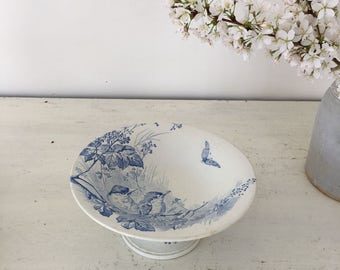 Vintage French ironstone cake stand