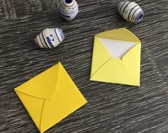 """Teeny tiny itty bitty mini square envelopes with notecards 1x1"""""""
