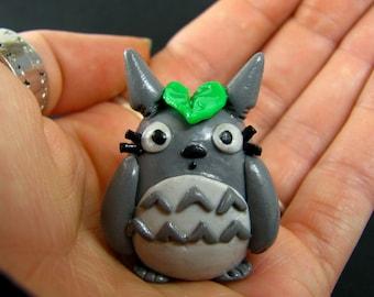 Clay Totoro-1 inch tall Totoro-My Neighbor Totoro-Studio Ghibli