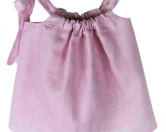 Rose water linen top