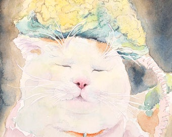 Cat No16 family water color