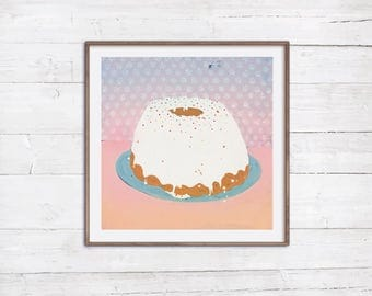 Sale 30% auf Aschkuchen Print Poster Dekoration Küche Café Bar Bäckerei