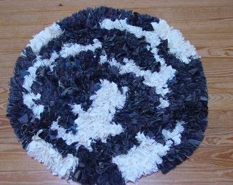 "Handmade shag rug, ""Continental Drift"""