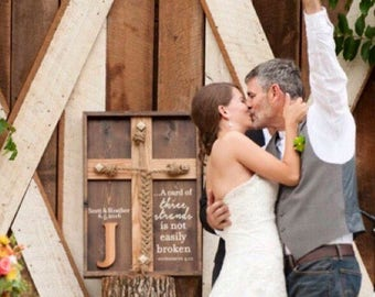 Wedding Unity Ceremony - Braid w/Ecclesiastes 4:12 scripture and Personalized Names/Dates