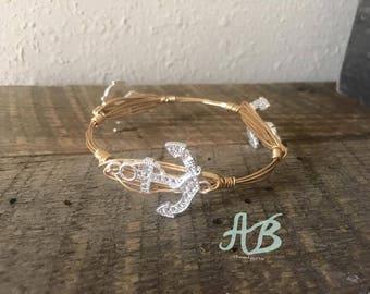 Anchor Bangles - diamond sparkle