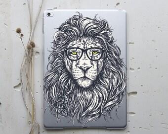 Hipster Lion Case iPad Case iPad Mini Case iPad Mini iPad Air iPad Air 2 Case iPad Cover iPad Pro Cover iPad Pro 9.7 iPad 4 Case iPad 3 i008
