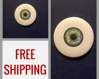 Eyeball Button Pin, FREE SHIPPING & Coupon Codes