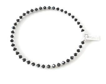 Swarovski Crystal Bracelet, Swarovski Crystal Bead Bracelet, Swarovski, Sterling Silver Bead Bracelet, Silver Bead Bracelet, Gift For Her