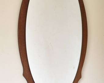 Vintage Retro Wooden Framed Mirror 76cm x 39cm Lovely Condition