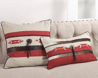 EMBROIDERED COWHIDE Decorative Pillows