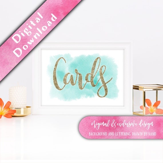 Gift table sign, Card Box Sign, Gifts Table Sign, Printable Wedding ...
