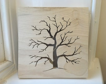 Tree Silhouette made from Sycamore