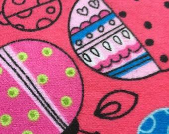 Baby Blanket Pink Ladybugs